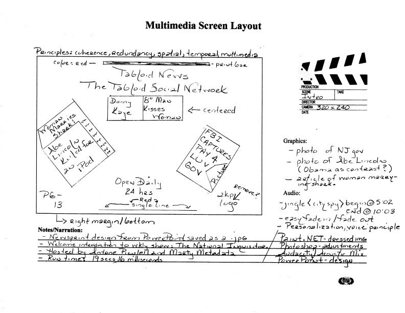 Block Storyboard  Multimedia Design